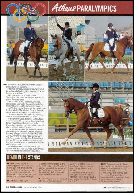 Zanko Knabstrupper stallion as featured in Horse and Hound